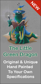 The Little Green Dragon Hand Painted Gifts